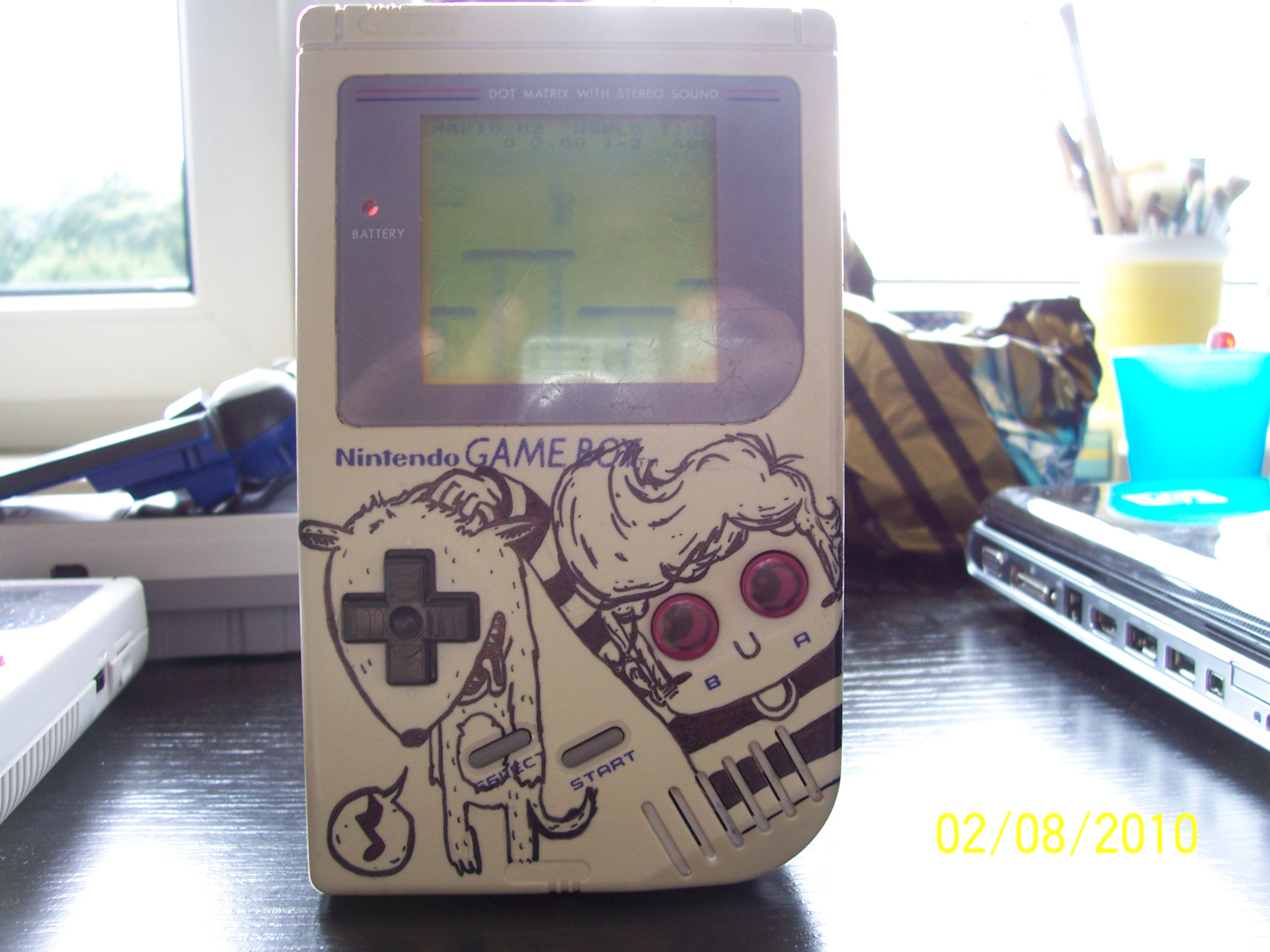 Custom Painted DMG Gameboy #1 by HolyKonni on Newgrounds