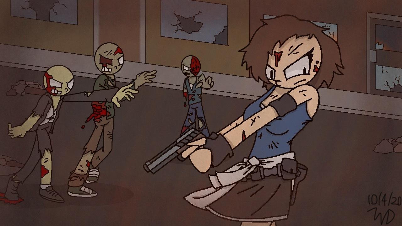 Jill Valentine Resident Evil 3 Remake By Game Wars Studios By Gamewarsstudios On Newgrounds