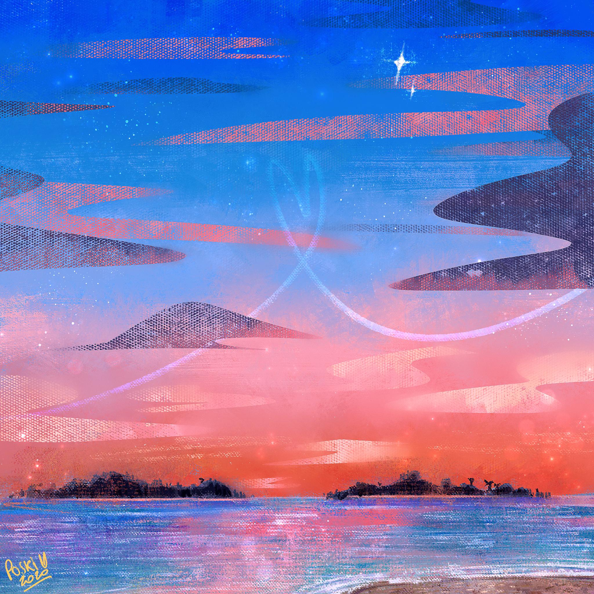 Sunset on the sea 🌅