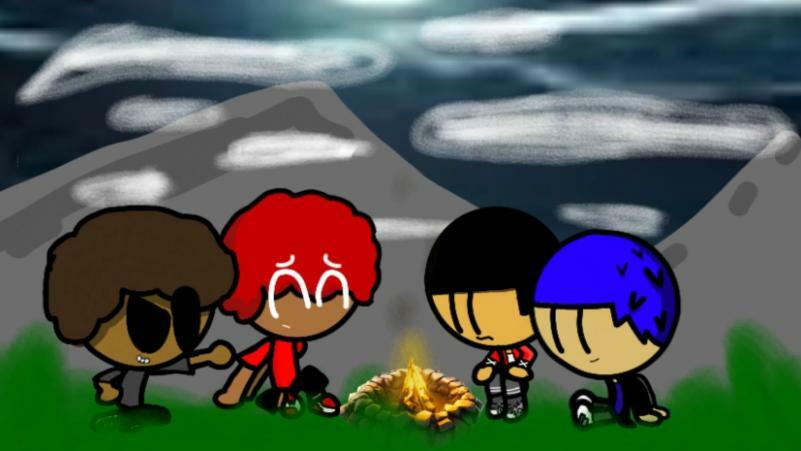 Me an the bois camping