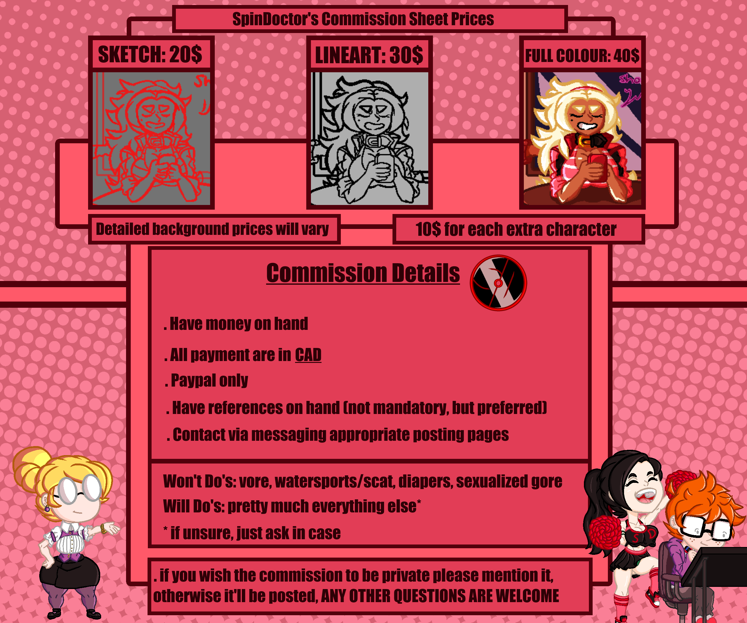 Updated 2020 Commission Prices