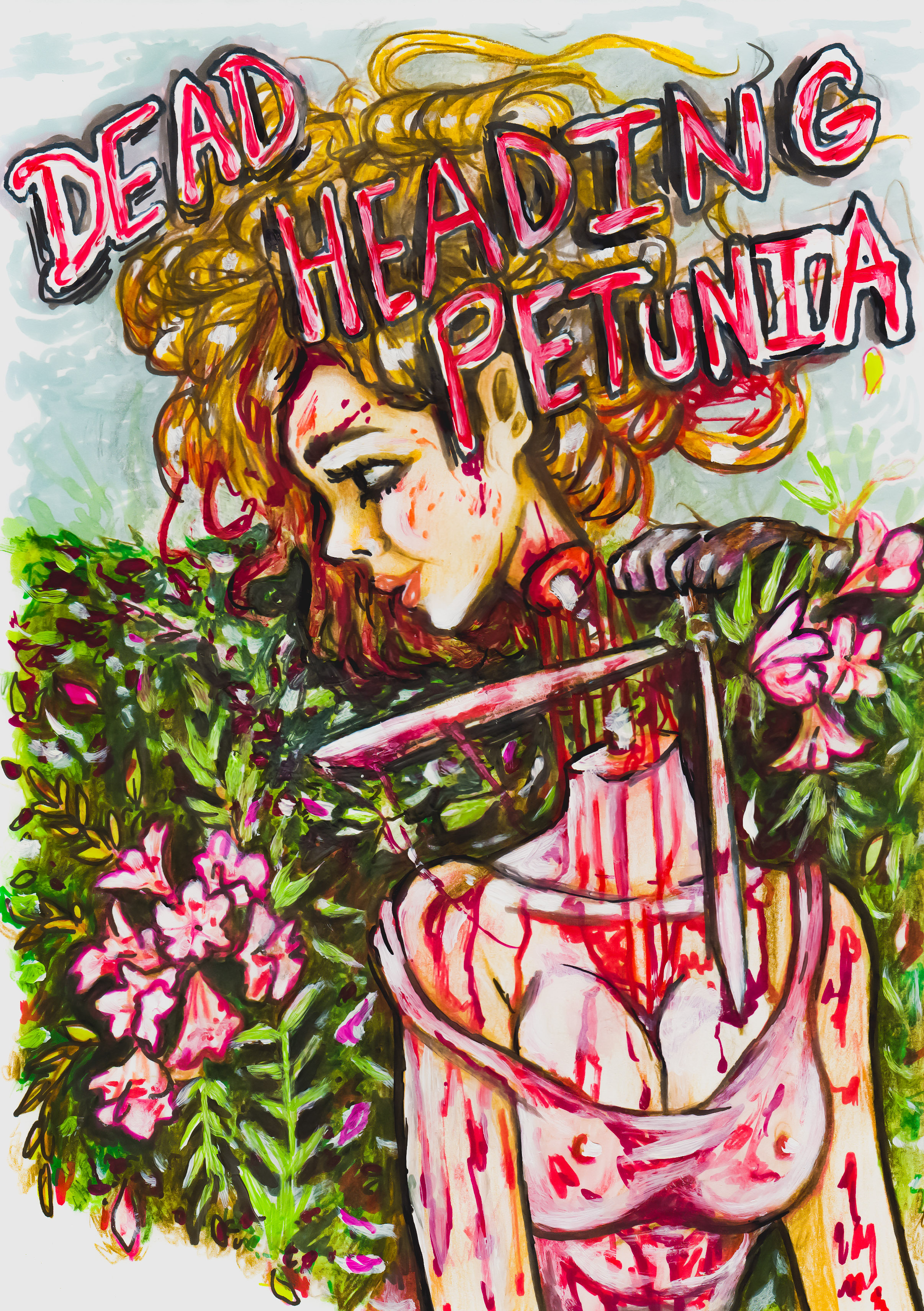 Dead Heading Petunia