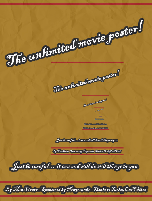 The unlimited movie poster!