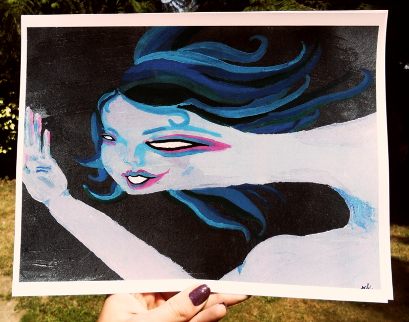Blue Naked Lady