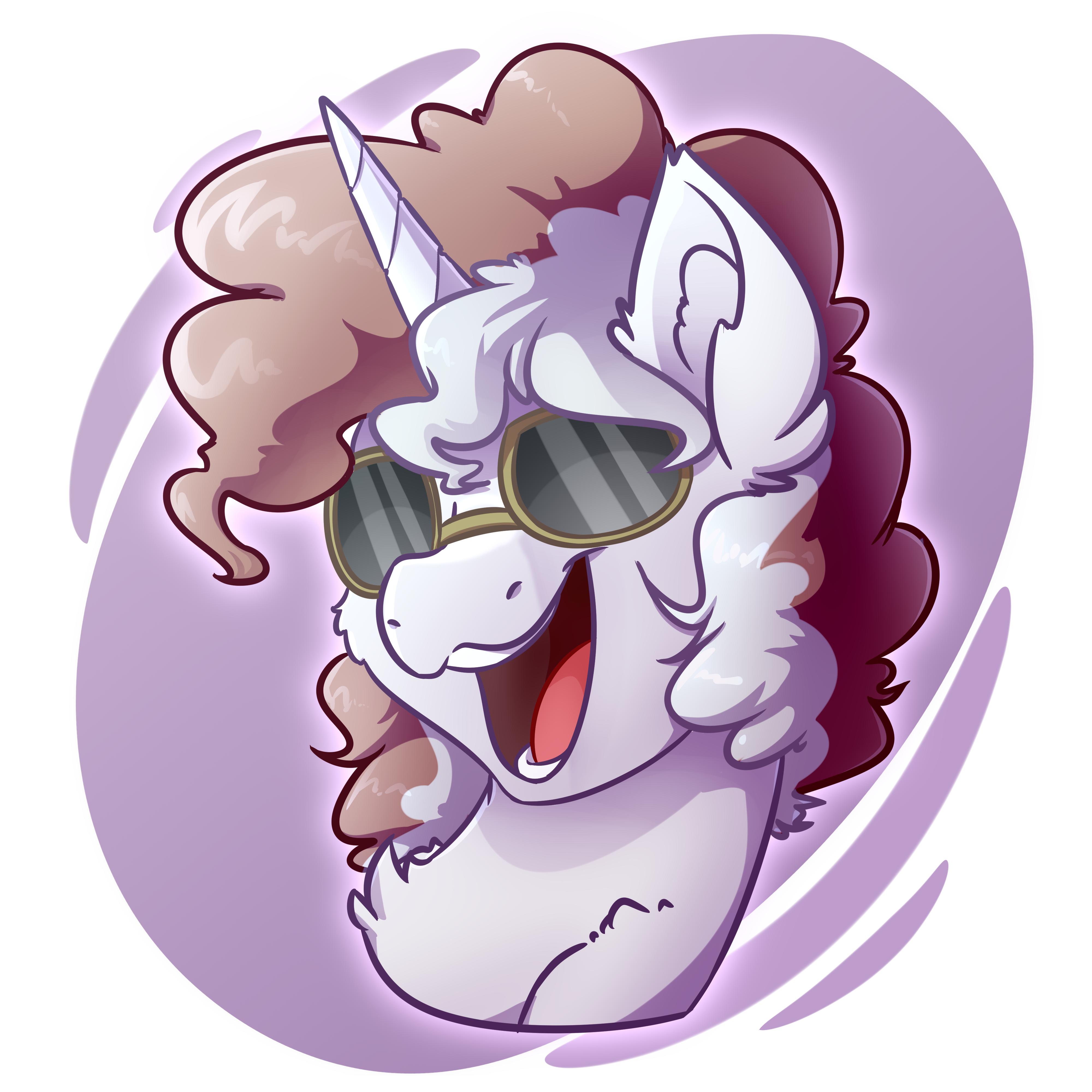 Sunglasses Horse Bust Commission