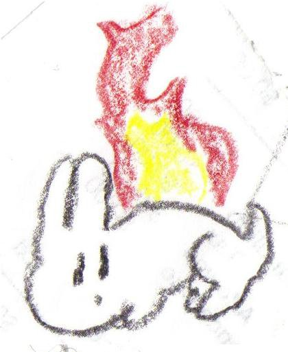 Another...FLAMING BUNNY
