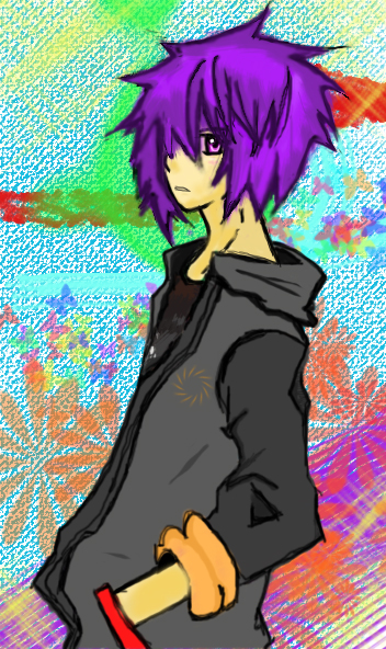 Purple haired punk