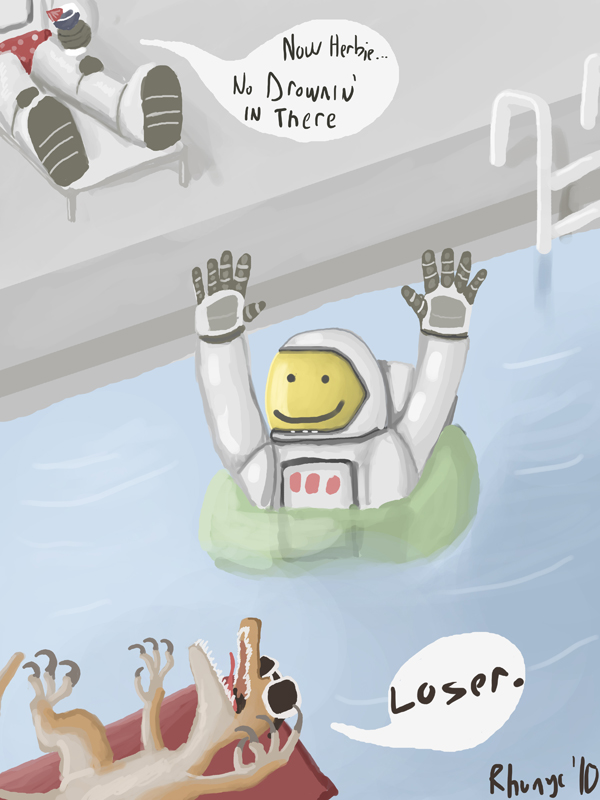 Astronaut Pool Party