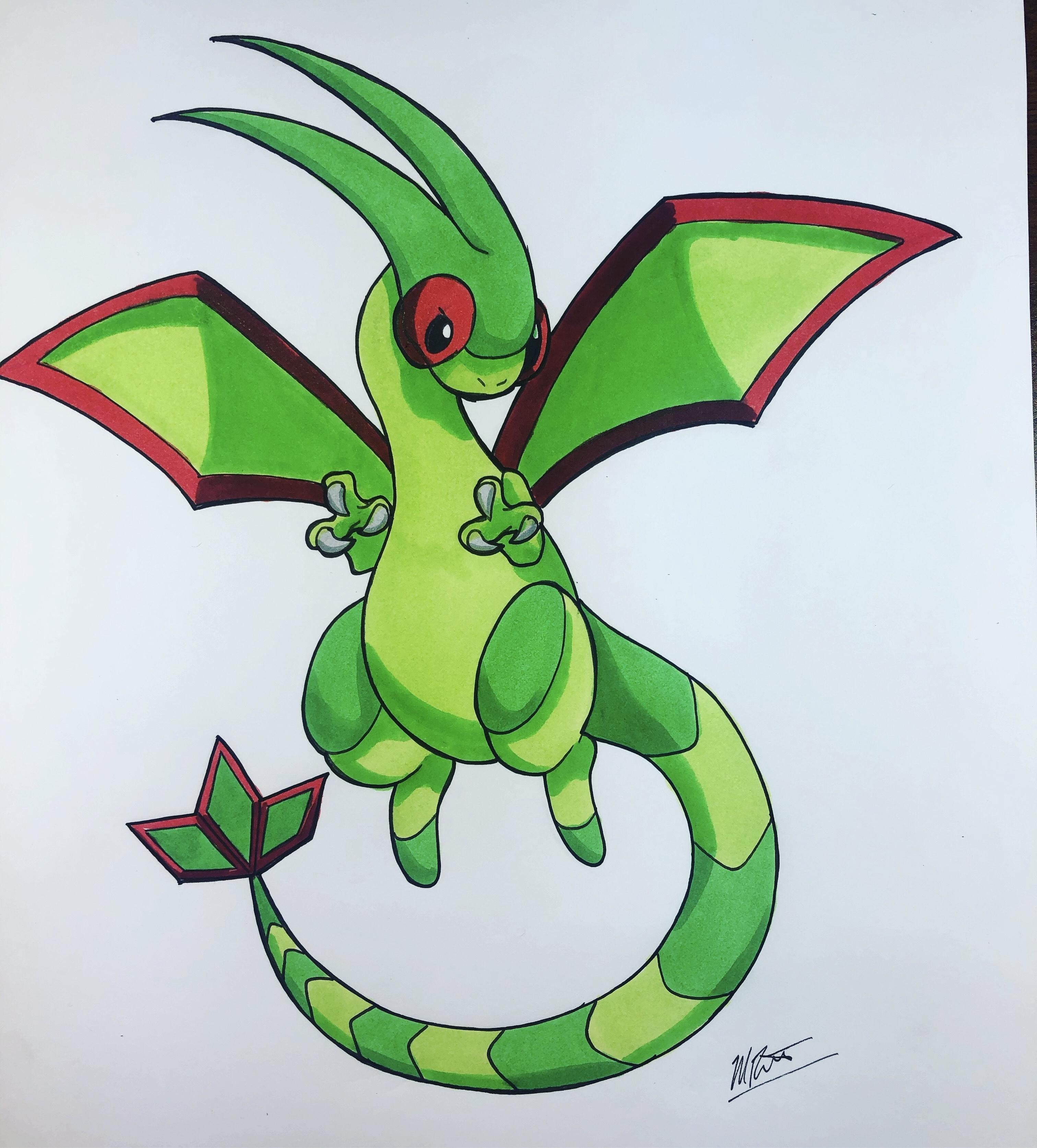 Flygon the dragon type Pokémon
