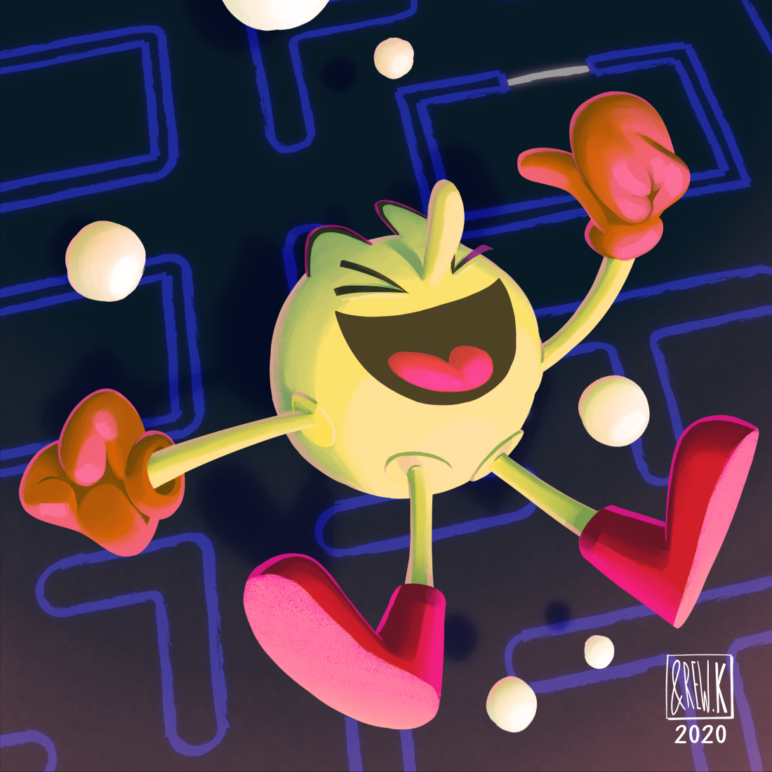 Pac-Man and More! Six Fanarts (1-3)