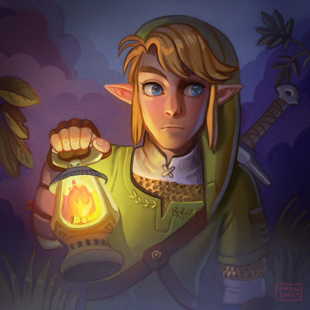 Twilight Princess Link in the poisonous forest