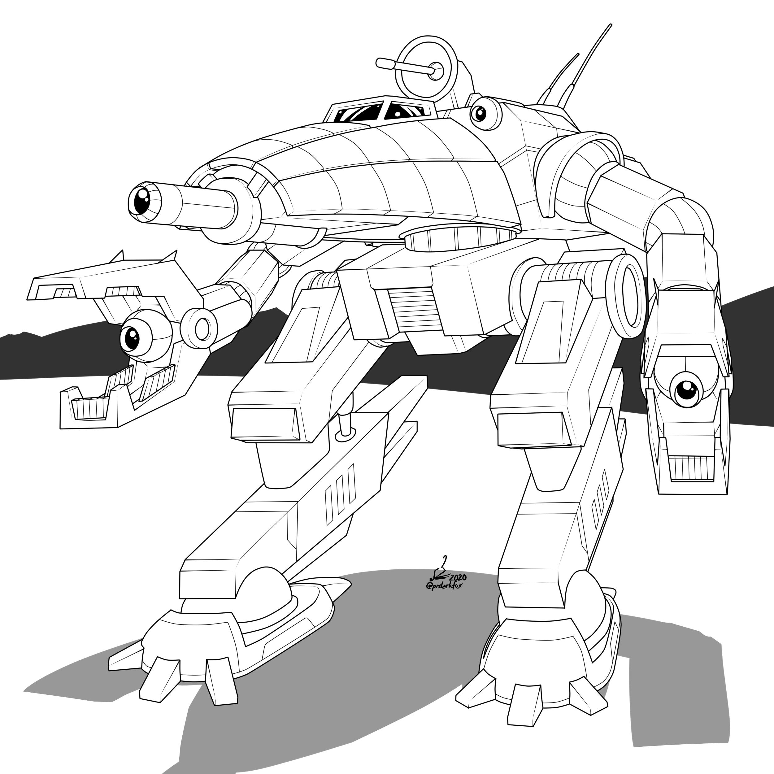 CRB-27 Crab BattleMech