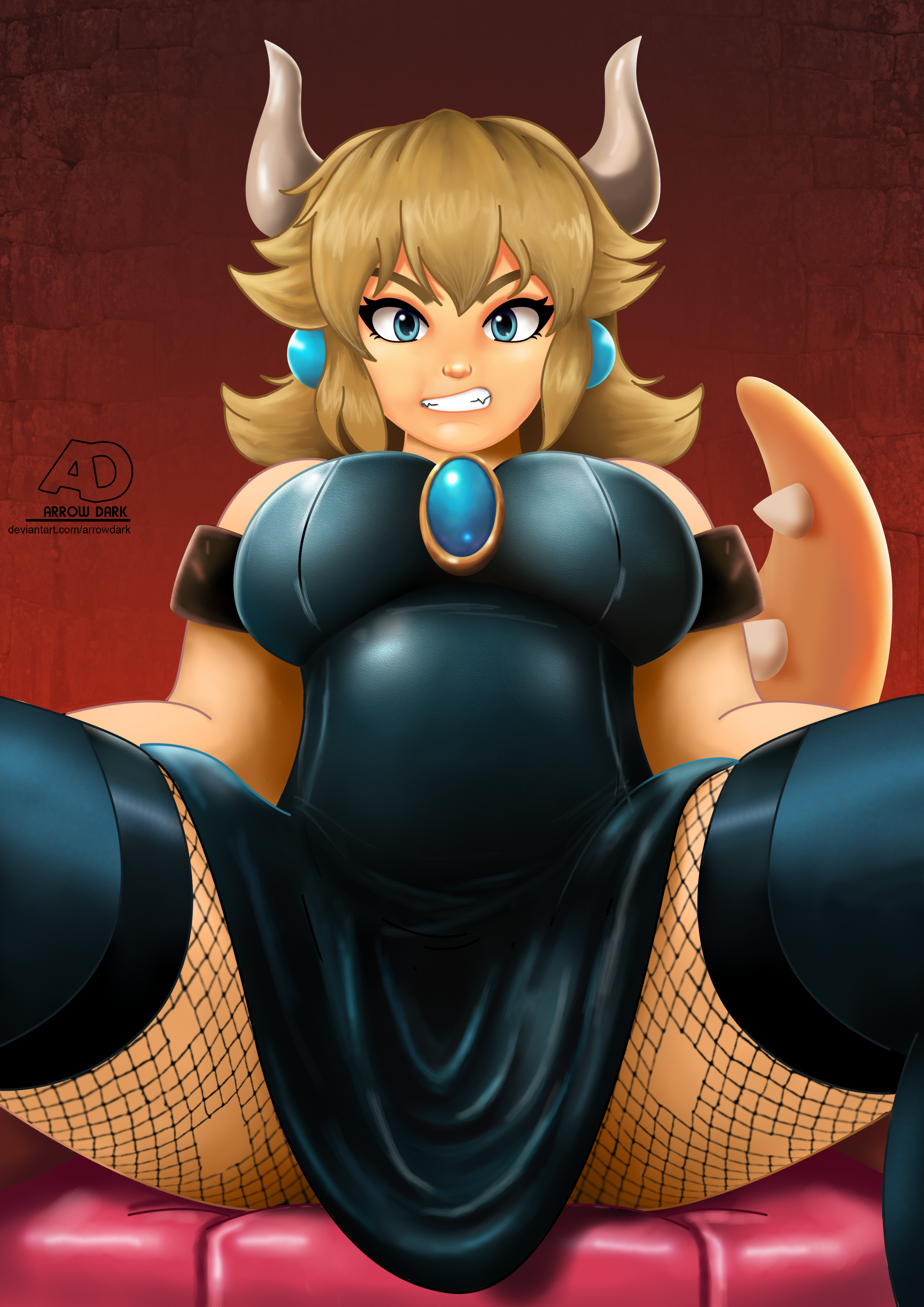 Bowsette by IVOanimations on Newgrounds