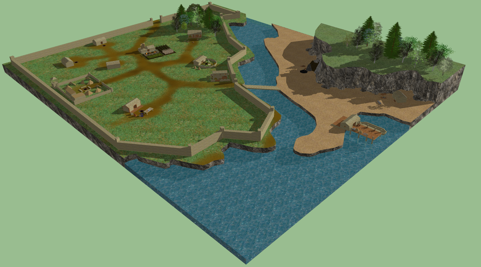 Early Medieval Town