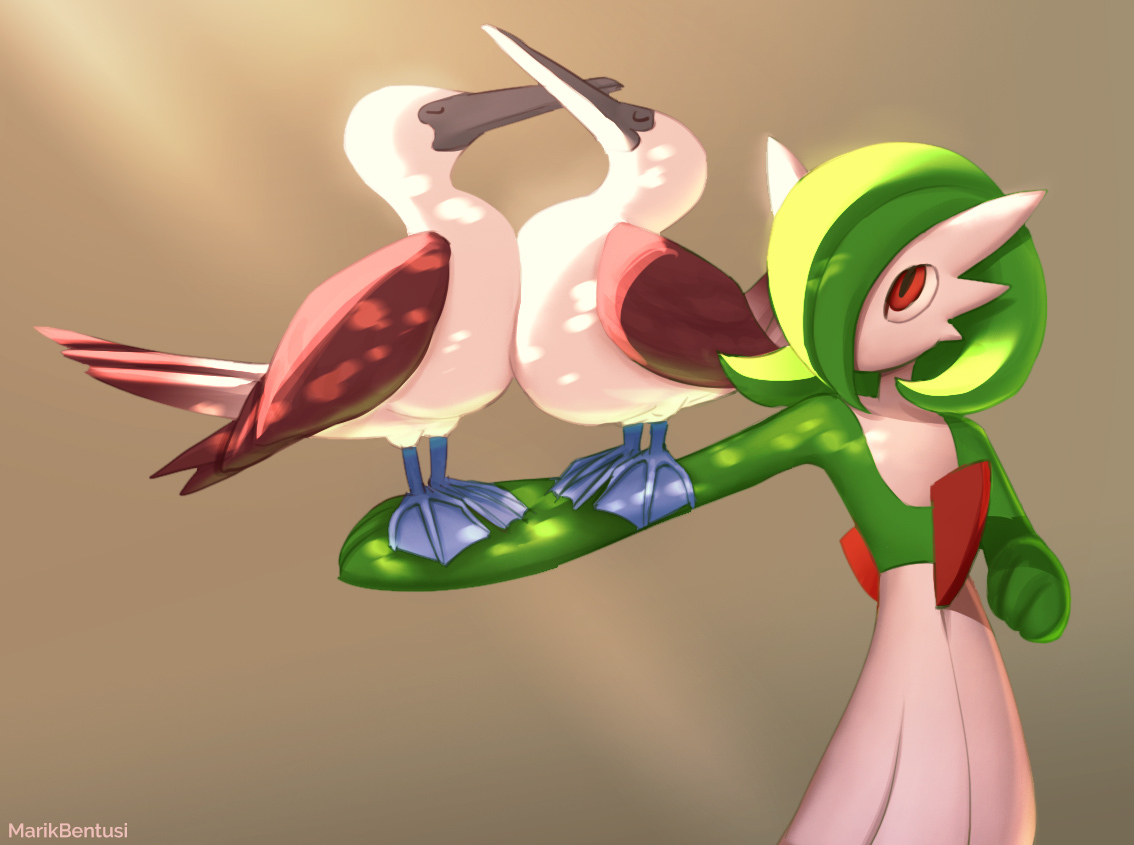 Pokemon: Gardevoir with big boobies