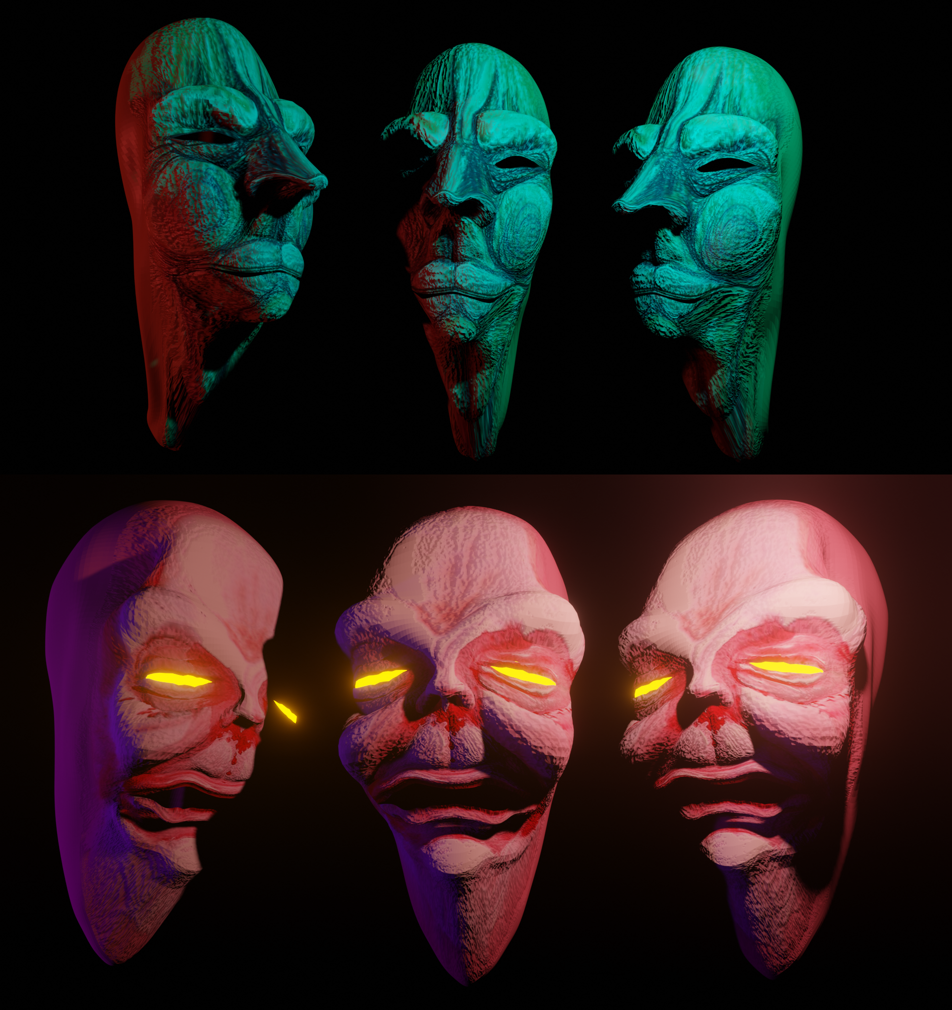 Handpainted UV textures experiment