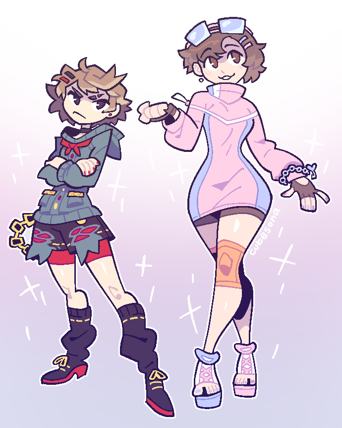 COMMISSION: two girls