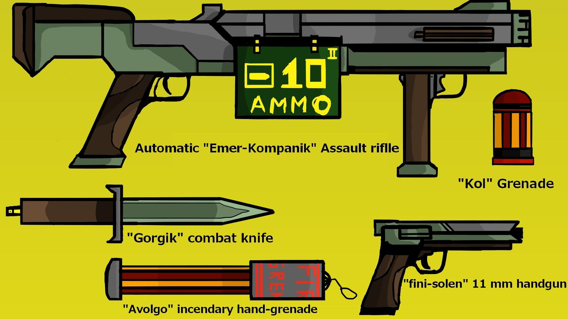 Emergerium war : Aryanist Infantry equipment