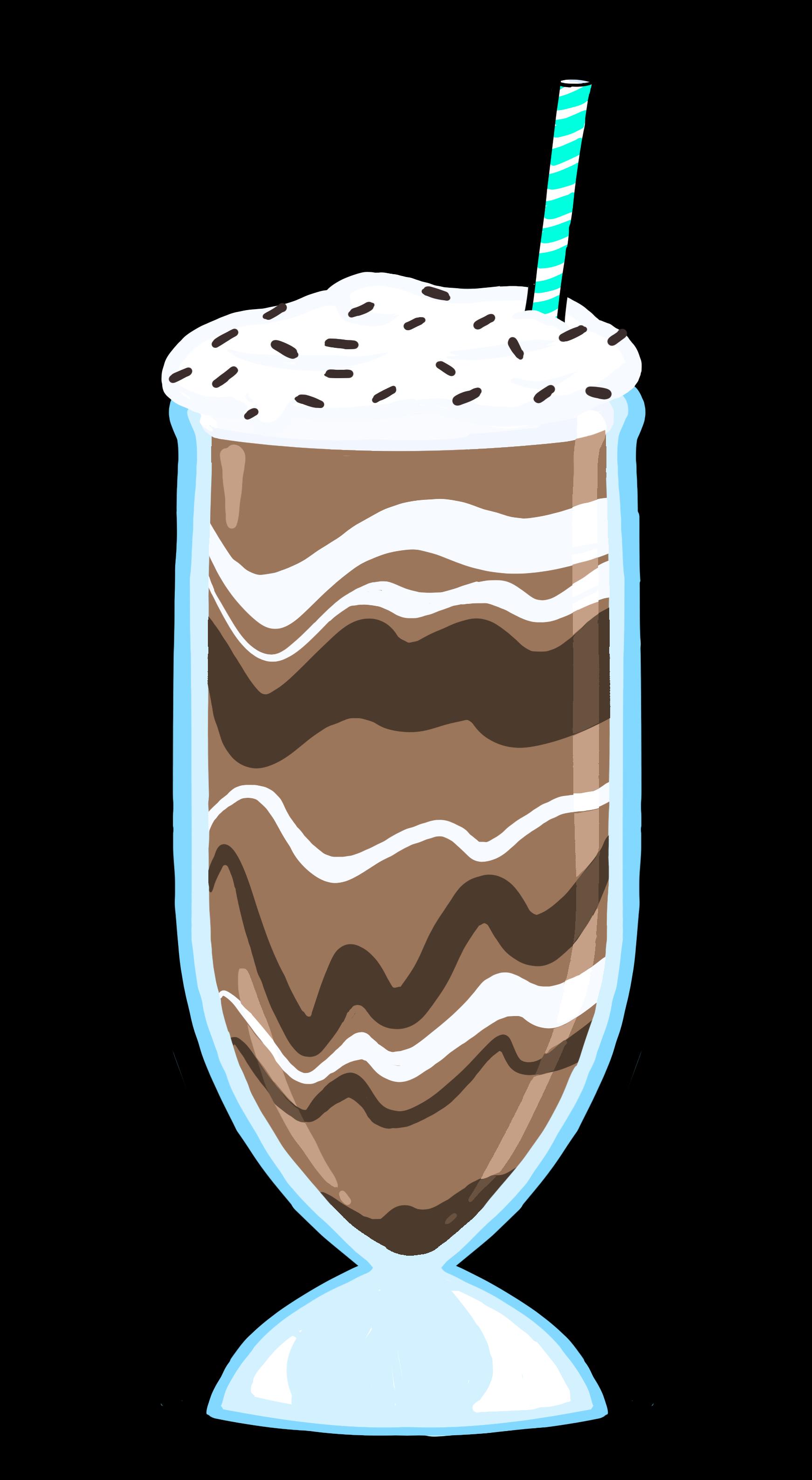 Frosty chocolate milkshake