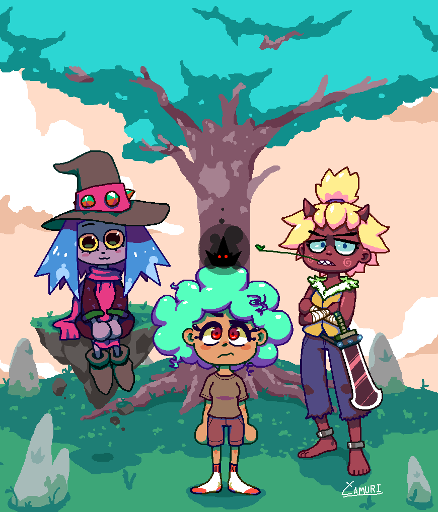 The Witch, the Oni, and the Black Crown