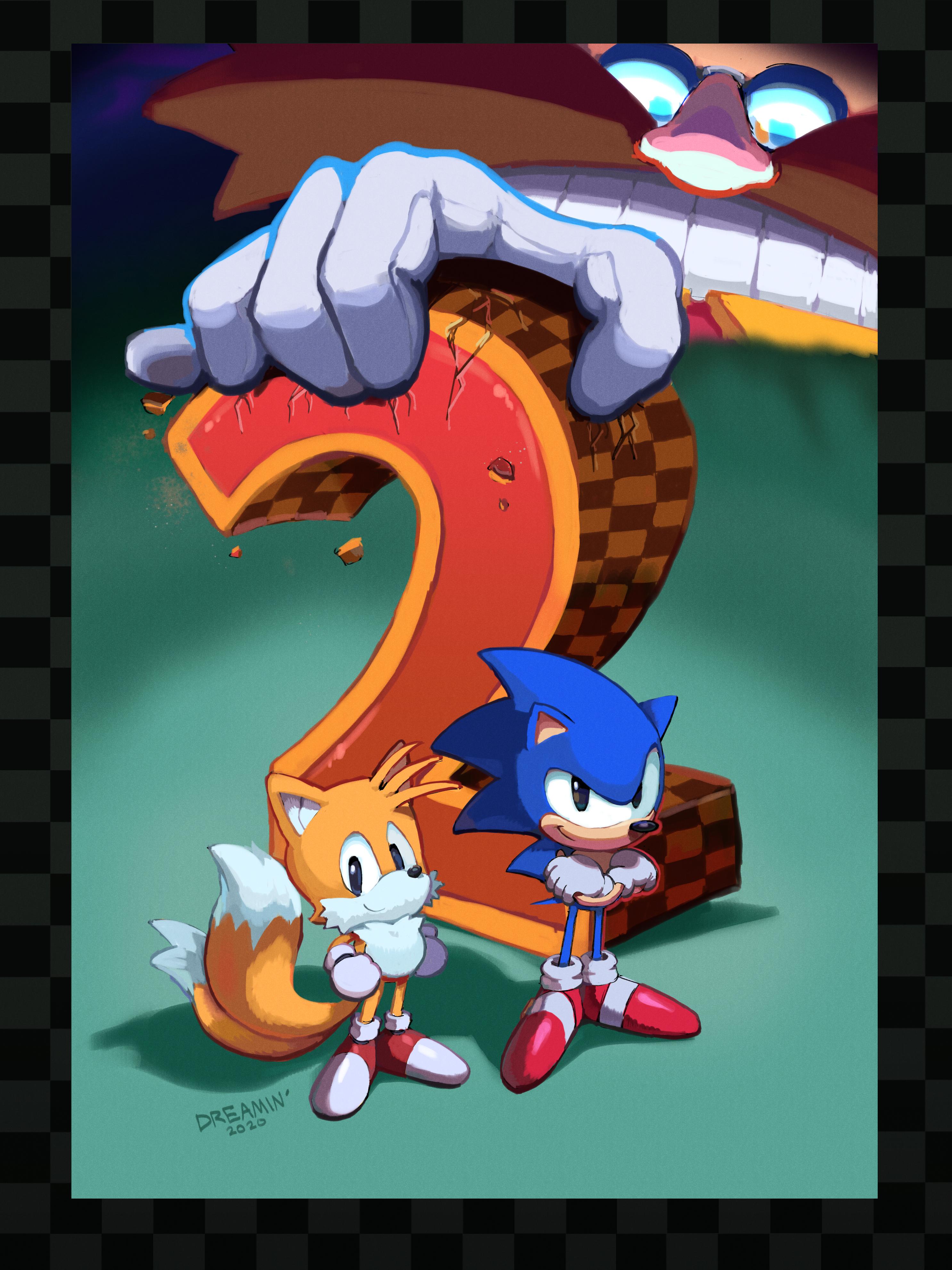 Sonic 2 Box Art Redraw (Greg Martin tribute)
