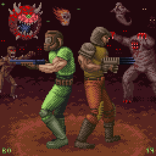Doomguy And Ranger Sitting In A Tree By Bojustbo On Newgrounds
