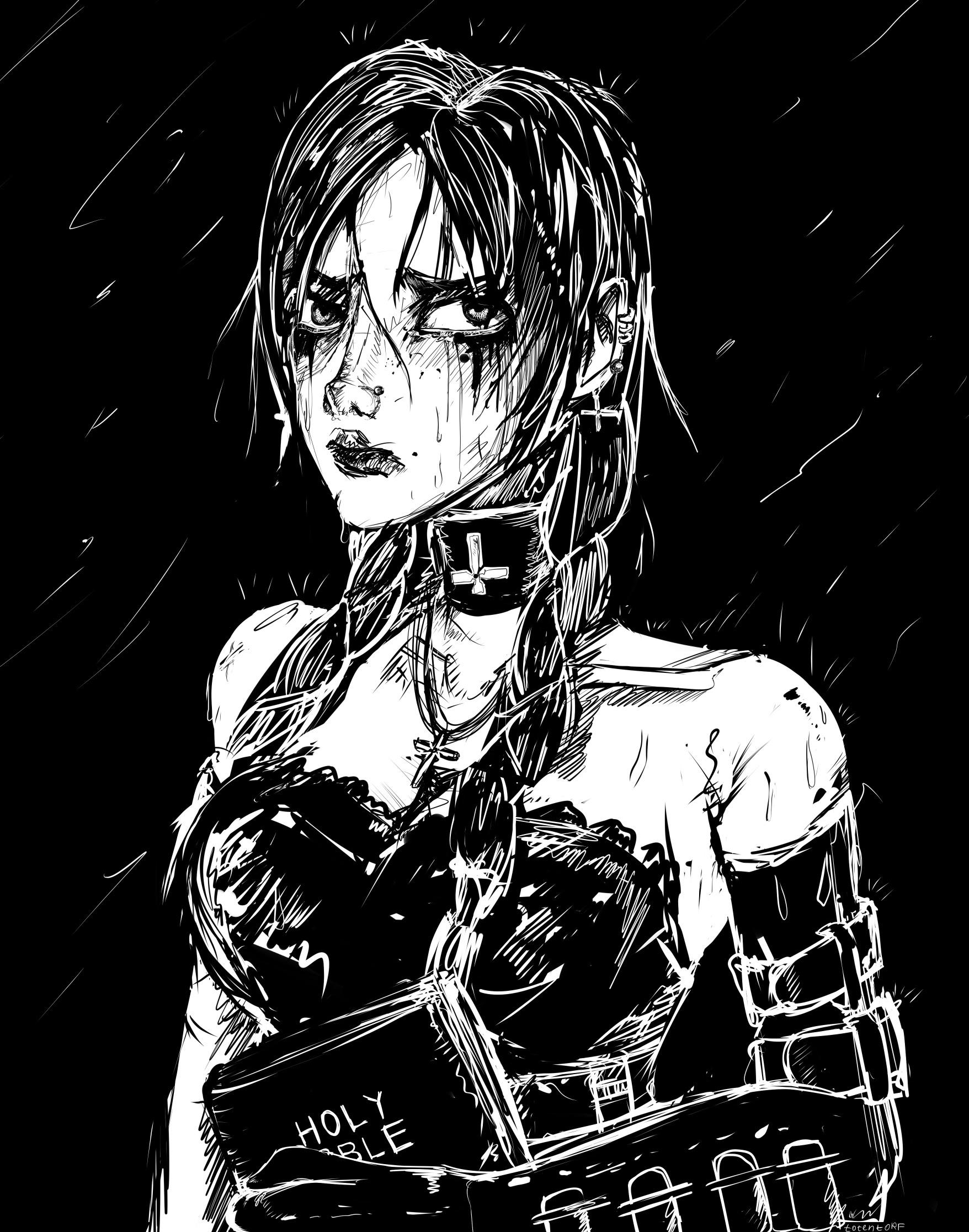 Random gothic girl