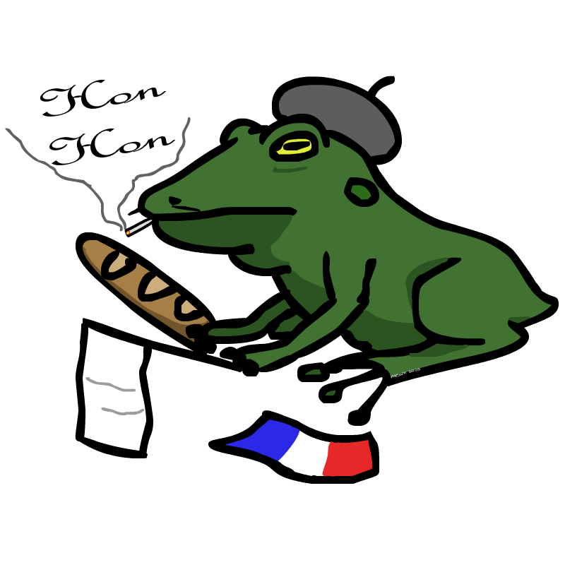 A badly drawn french frog