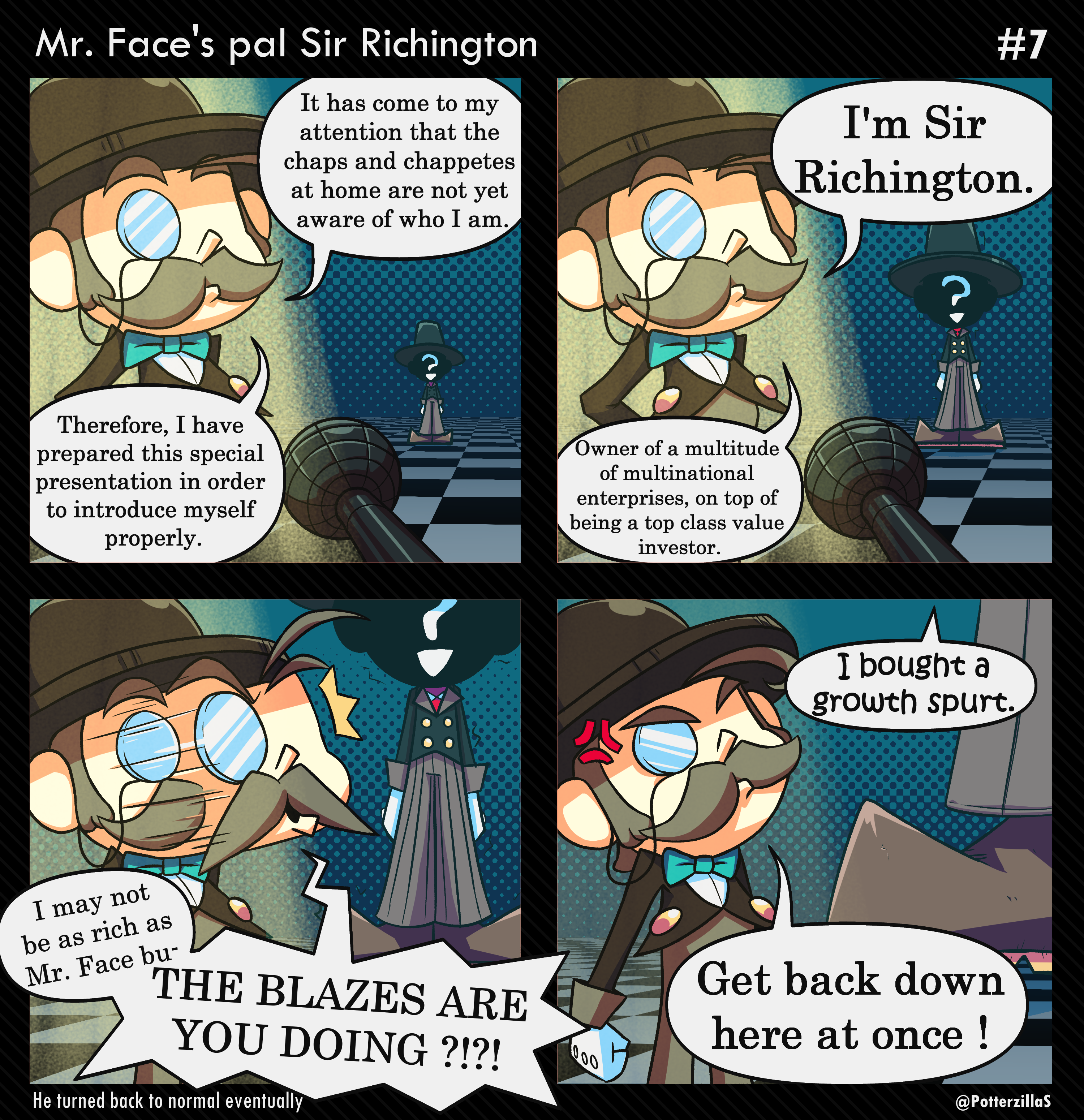 Mr Face #7- Mr. Face's pal Sir Richington