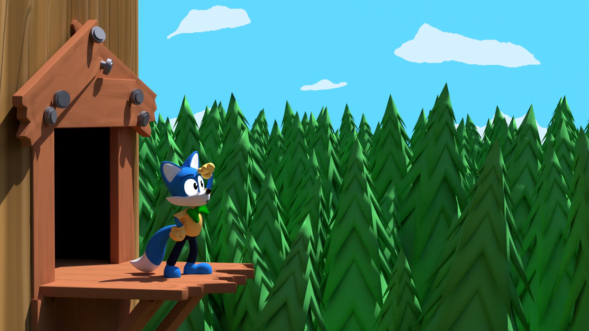 Thomas on a Tree Balcony Thing
