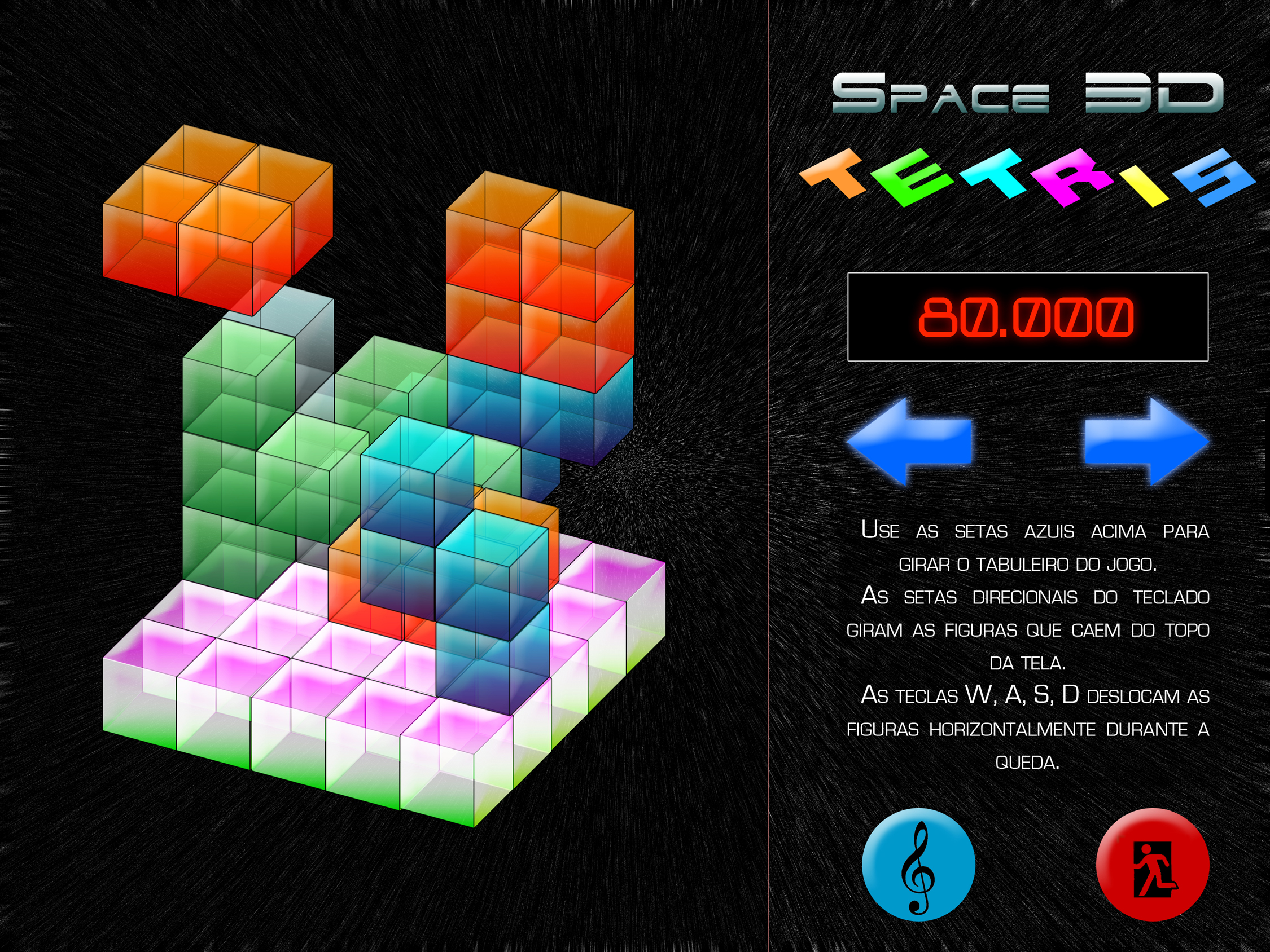 Space 3D Tetris Concept Art