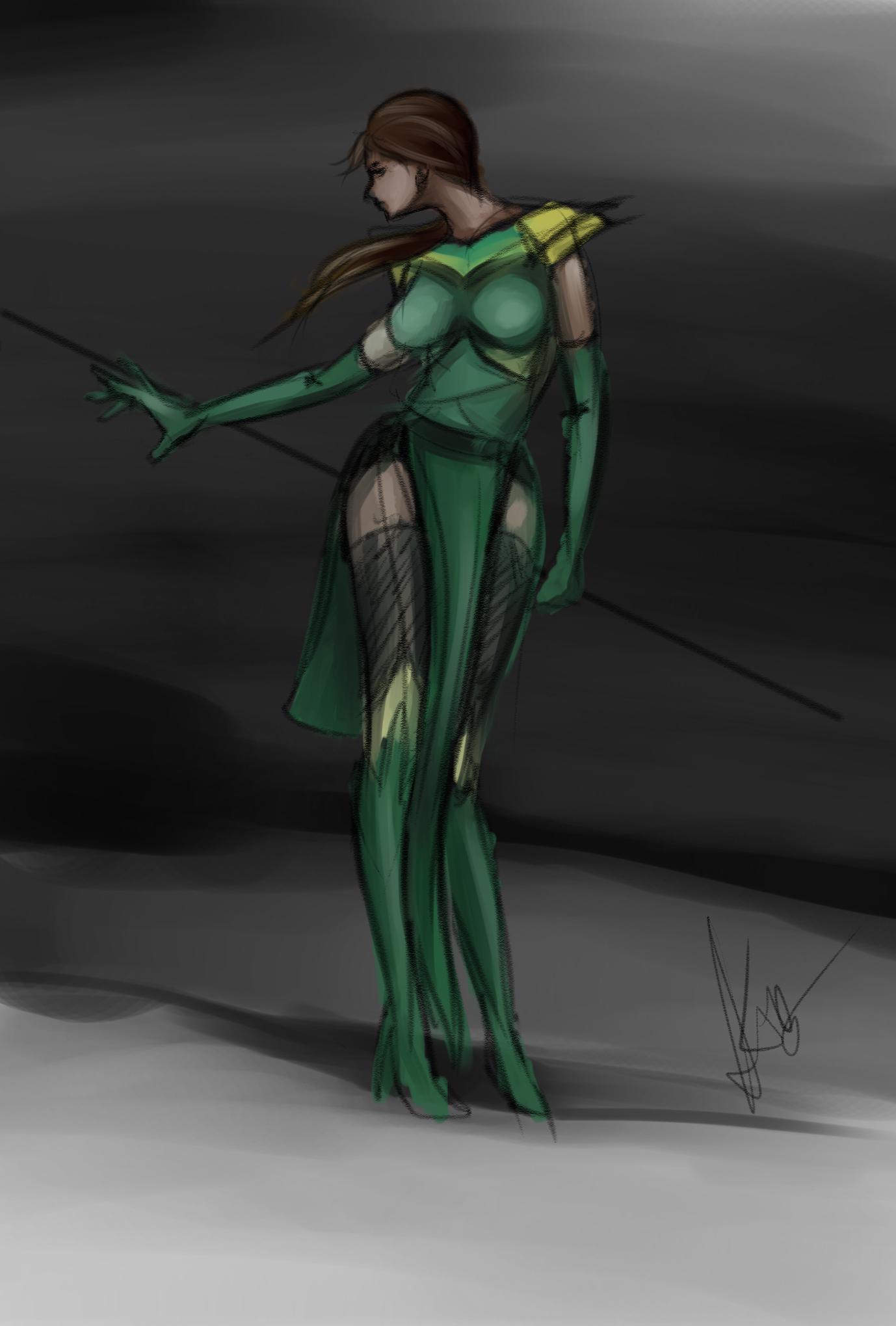 Quick sketch for Jade