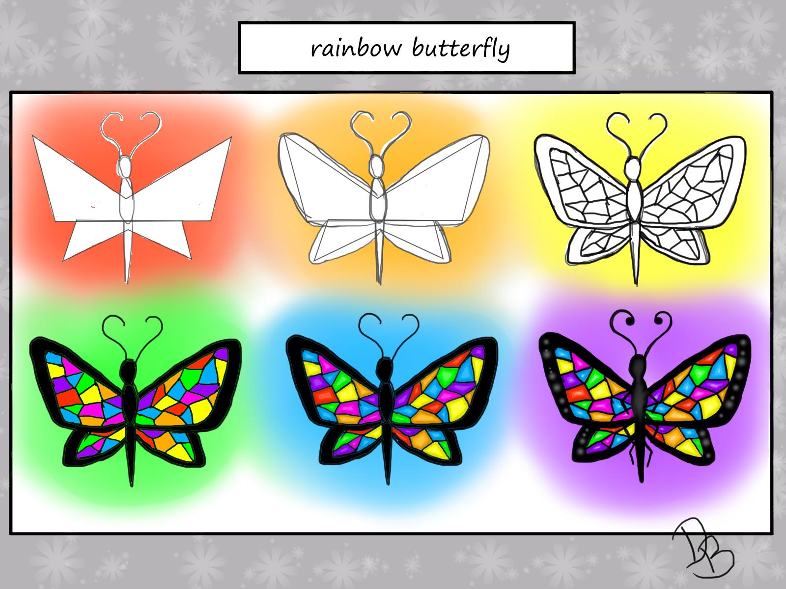 Process rainbow butterfly