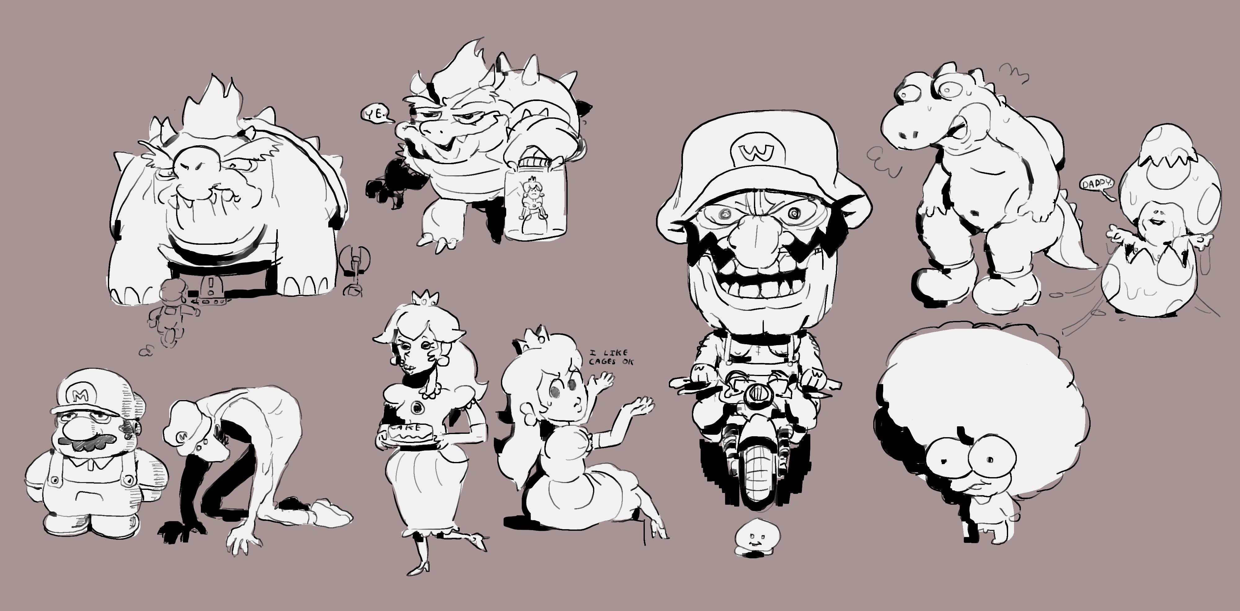 Slightly artistic doodles