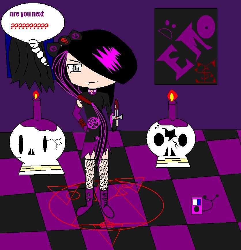 strange gothic girl O.O