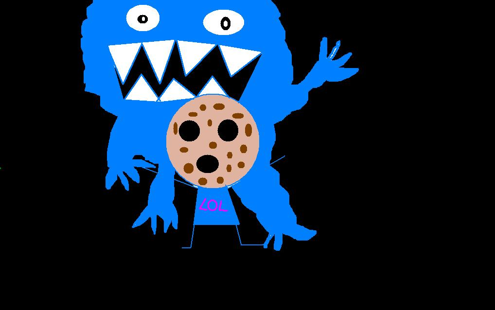 Cookie monster attack!