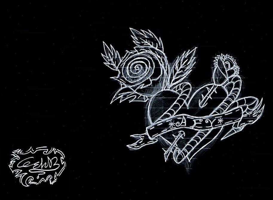 Stapped Heart {Pencil Art}