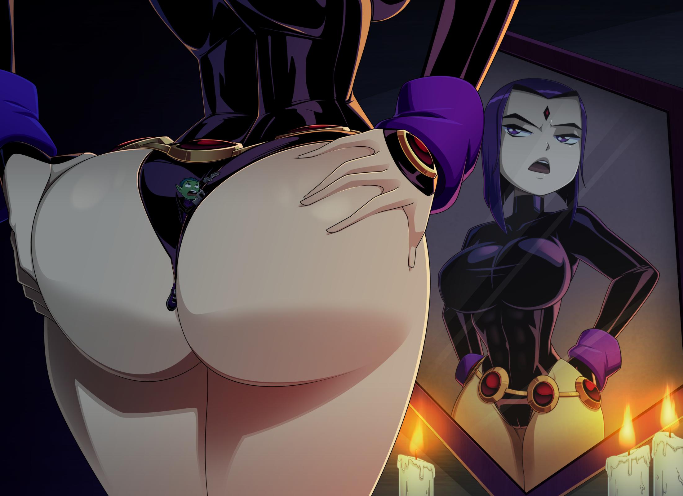 Between Raven's Cheeks