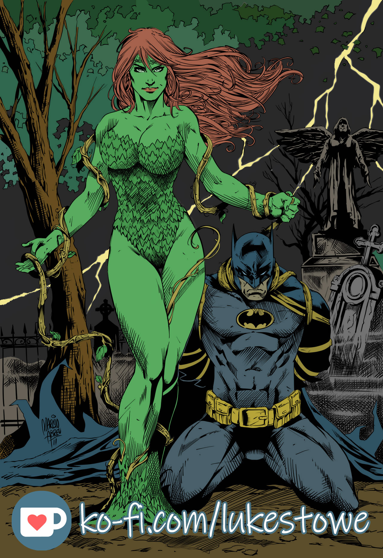 Poison Ivy Batman By Marcioabreu7 Inks By Pendecon By Lstowe On Newgrounds