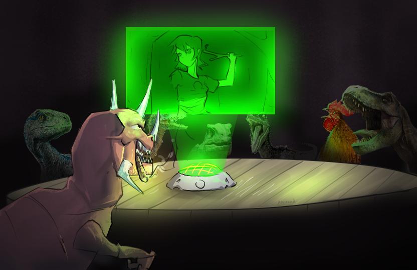 Dinosaur command room