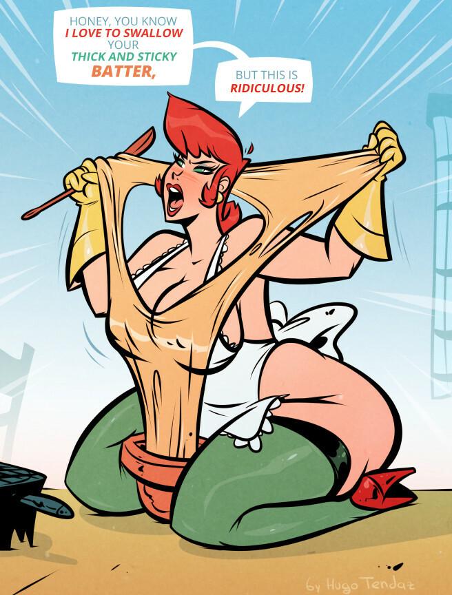 Dexter's Mom - Batter - Cartoon PinUp Commission