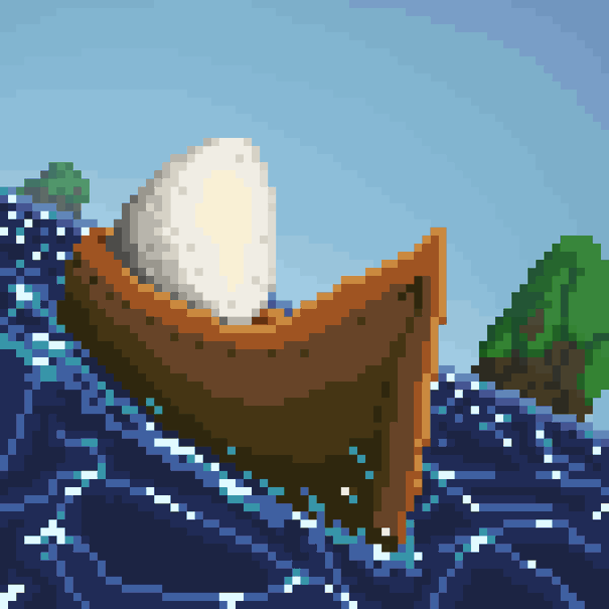 egg on a boat