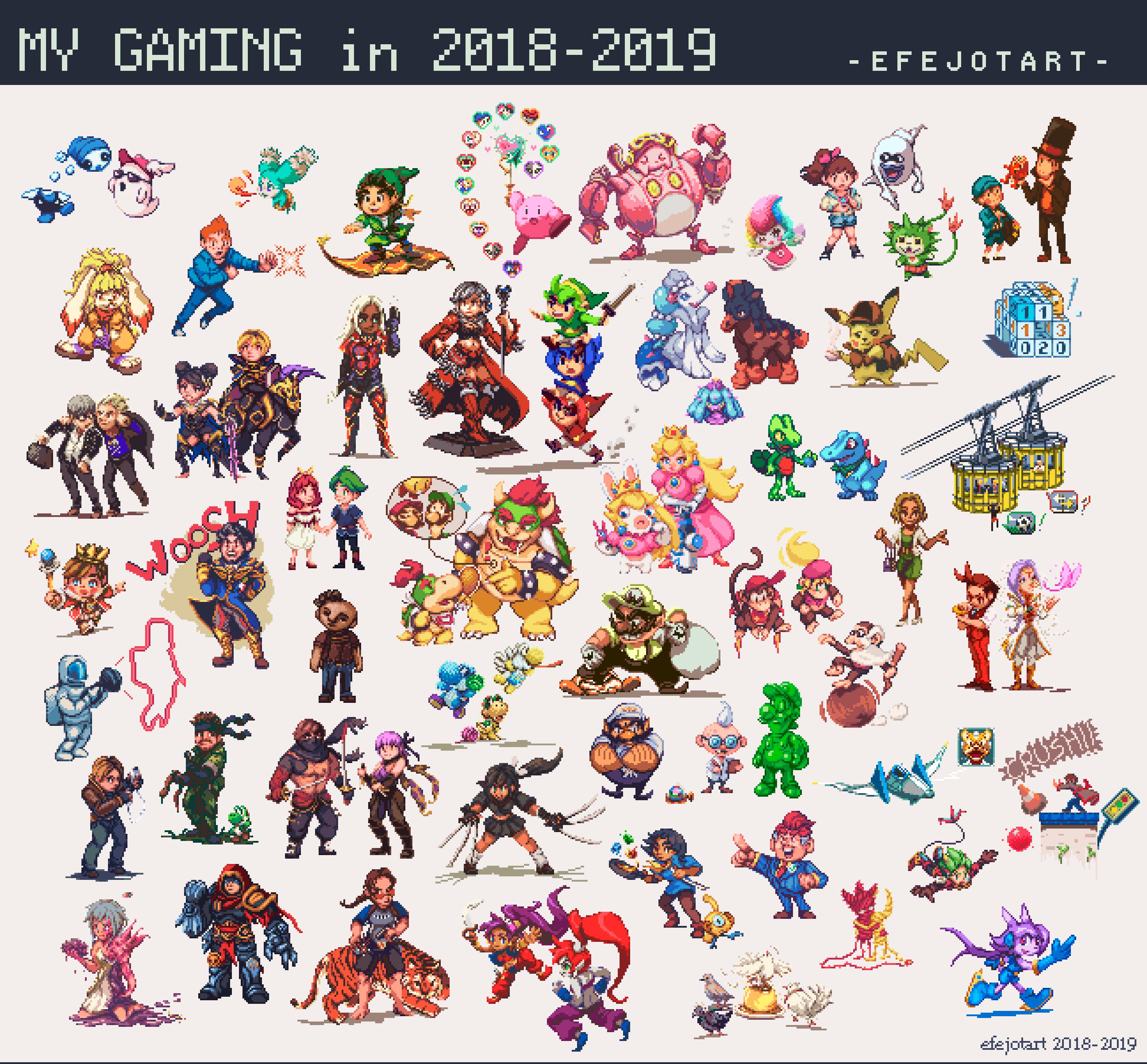 50 games in pixelart