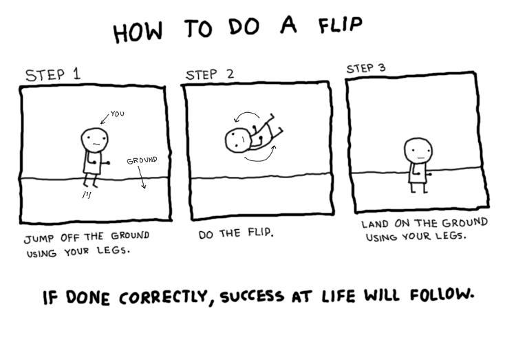 How to do a flip.