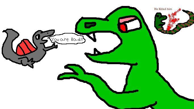 Dino KILLED A SNAKE