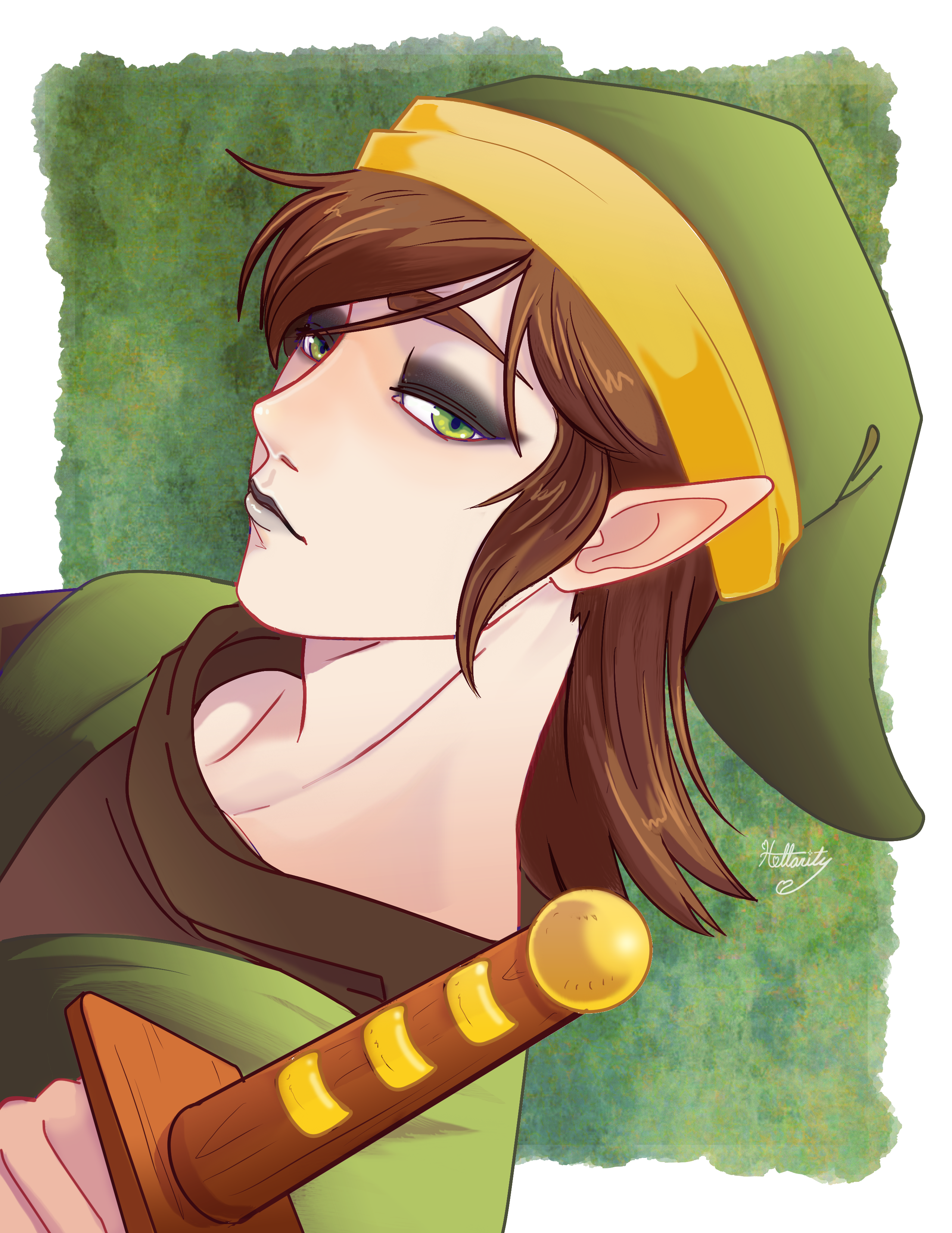 Link but Goth- Commission