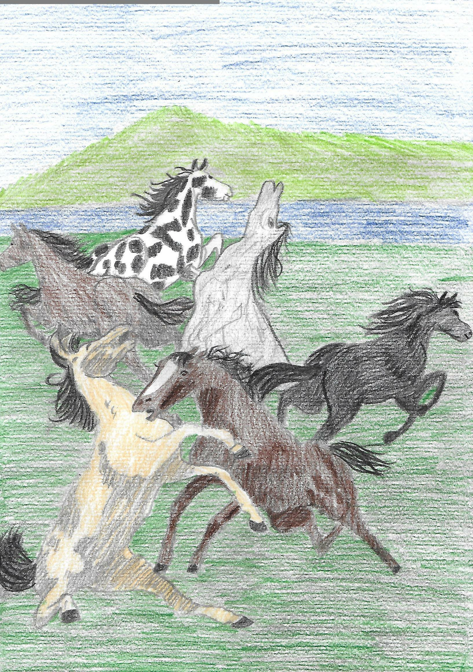 Fighting horses