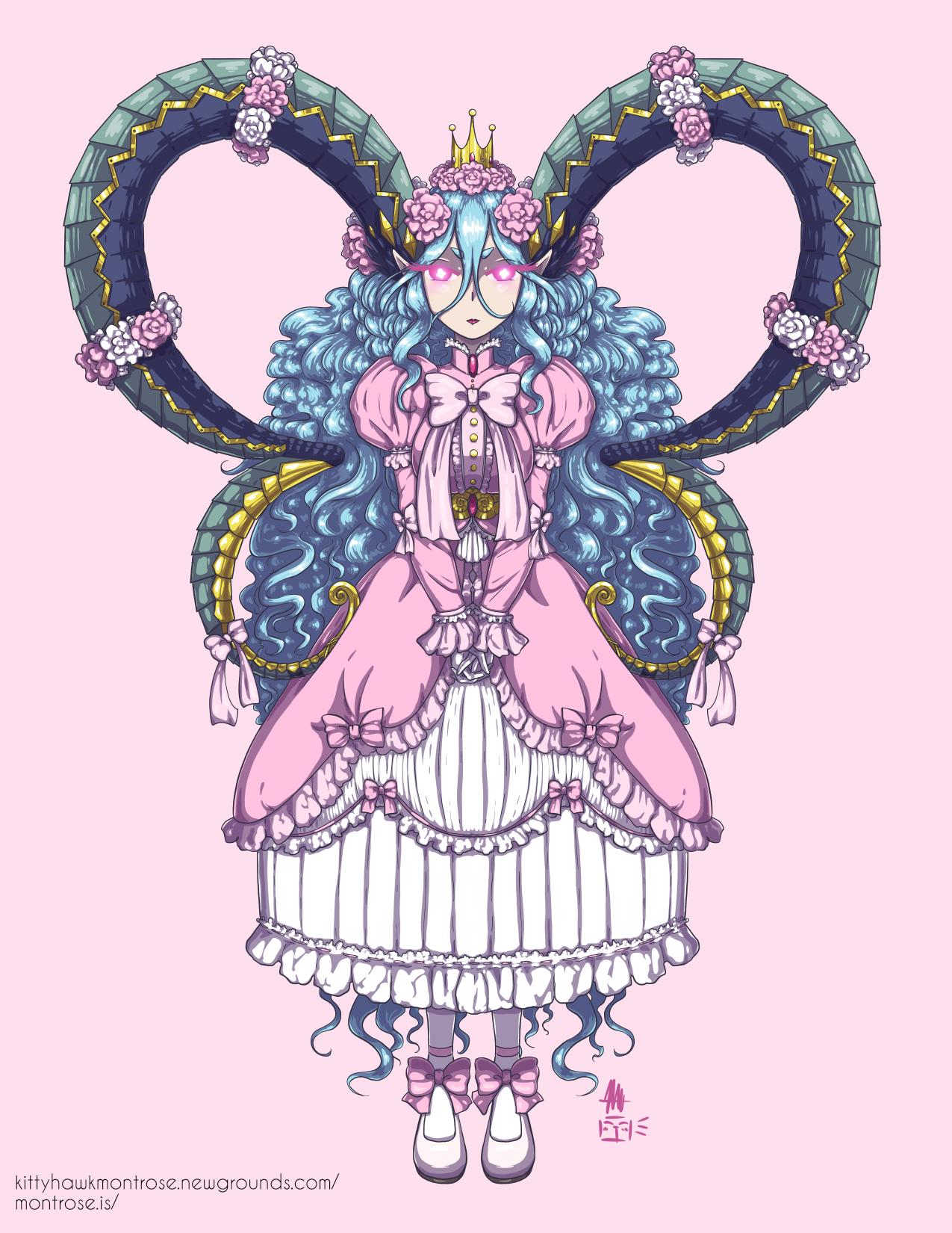 Tiamat in Hime Lolita Fashion