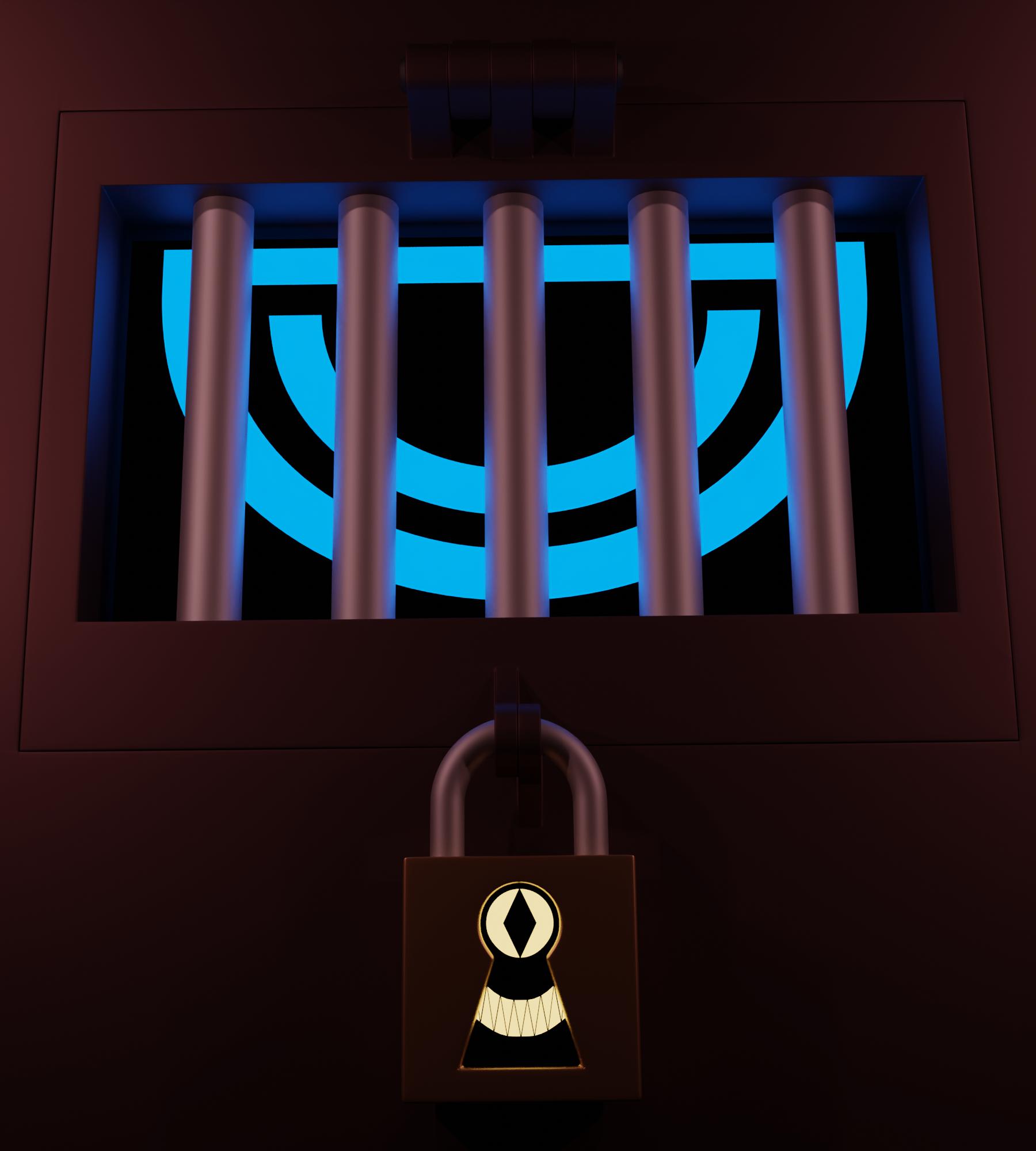 locked up blue eye