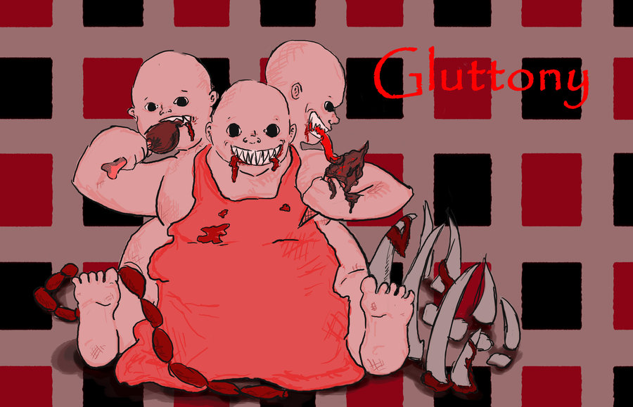 Gluttony in Red
